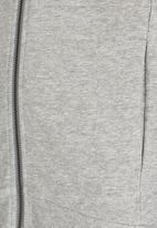 name it - Printed Zip Through Sweat Cardigan Grey