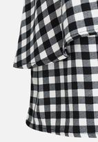 name it - Check Skirt Black and White