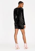Forever21 - All-over Sequins Mini Dress Black
