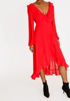 Forever21 - Ruffle Dress Red