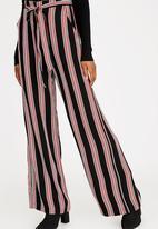 Forever21 - Striped Pants Black