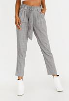 Forever21 - Highwaisted Check Pants Grey