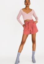Forever21 - Belted Shorts Rust