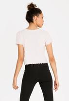 Forever21 - Cropped T-shirt Mid Pink