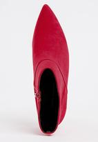Cherry Collection - Pointed Ankle Boots Red