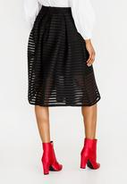 6682b82413efee Structured Fit and Flare Skirt Black STYLE REPUBLIC Skirts ...
