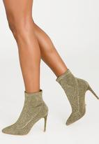 Cherry Collection - Pointed Lurex Sock Boots Gold