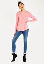 Kate Jordan - Shawl Pleat Blouse Mid Pink