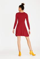 c(inch) - Wrap Front Dress Red