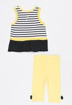 Twin Clothing - Short Sleeve Sunflower Two Piece Set Yellow