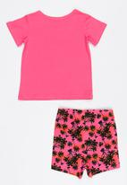 Twin Clothing - 2 Piece Pajamas Set Cerise Pink