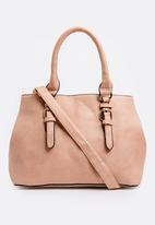 BLACKCHERRY - Multi Compartment Tote Pale Pink