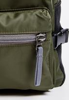 STYLE REPUBLIC - Plain Backpack Khaki Green