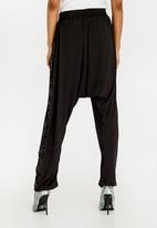 RUFF TUNG - Sequined Harem Trousers Black