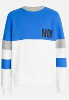 name it - Printed Sweat Top Blue