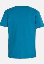 Twin Clothing - Berlin Printed T-shirt Mid Blue