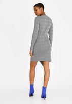 c(inch) - Asymmetrical Wrap Dress Multi-colour