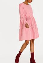STYLE REPUBLIC - Tier Volume Dress Red