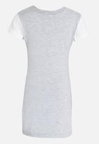 Twin Clothing - Cheerleader Print T-Shirt  Dress Grey