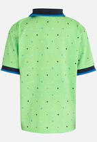 Twin Clothing - Printed Golfer T-shirt Green