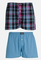 Jockey - 2 Pack Woven Boxers Multi-colour