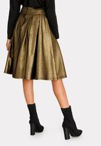 STYLE REPUBLIC - Fit And Flare Volume Midi Skirt Gold
