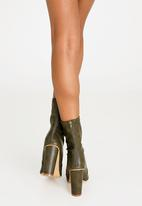STYLE REPUBLIC - Disco Booties Dark Green