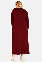 STYLE REPUBLIC PLUS - Inverted Pleat Maxi Dress Burgundy