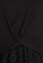 Rebel Republic - Combo T-shirt  Dress Black