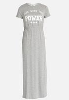 Rebel Republic - Jersey Maxi Dress Grey Melange