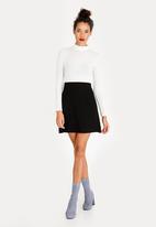 c(inch) - Lined Basic Midi Skirt Black