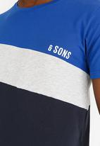 Only & Sons - Dex  Stripe Tshirt Grey Melange