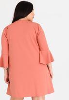 STYLE REPUBLIC PLUS - Asymmetrical Frill Hem Dress Pale Pink