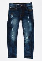 Twin Clothing - Skinny fit front button jean blue