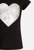 Converse - Converse Split Heart Tee Black