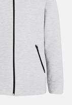 Rebel Republic - Mesh zip through - grey