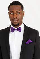 STYLE REPUBLIC - Plain Bow Tie & Lapel Pin Dark Purple
