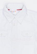 POP CANDY - Short sleeve shirt with pointed collar - white