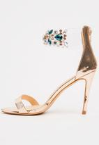 Footwork - Byron Embellished Heels Rose gold