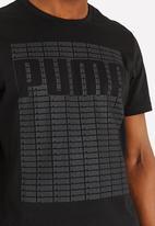 PUMA - Wording Tee Cotton Black