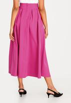 STYLE REPUBLIC - Fit And Flare Volume Skirt Cerise Pink
