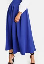 STYLE REPUBLIC - Fit And Flare Volume Skirt Blue