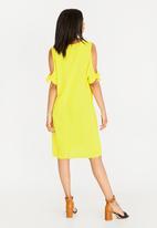 edit - Tie Sleeve Dress Yellow