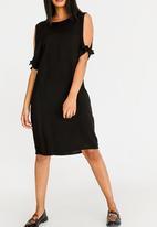 edit - Tie Sleeve Dress Black