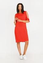 edit - Tie Sleeve Dress Orange