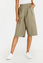 edit - Flare Culotte Khaki Green