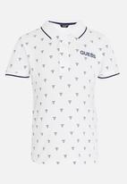 GUESS - Boys Printed Polo White