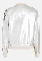 name it - Bomber Jacket Silver