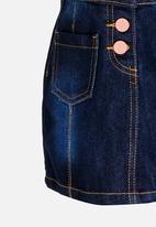 POP CANDY - Denim Skirt Dark Blue