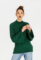 STYLE REPUBLIC - Chunky Bell Sleeve Jersey Dark Green